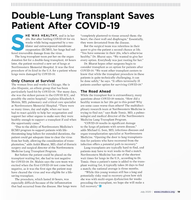 Double-Lung Transplant Saves Patient After COVID-19
