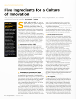 Five Ingredients for a Culture of Innovation