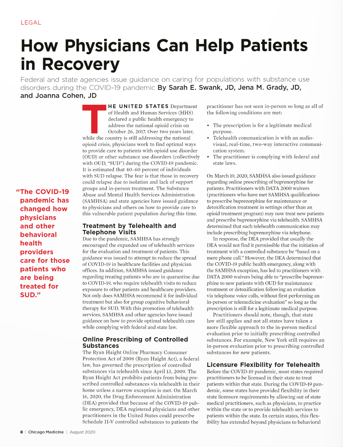 How Physicians Can Help Patients in Recovery