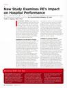 New Study Examines PE's Impact on Hospital Performance