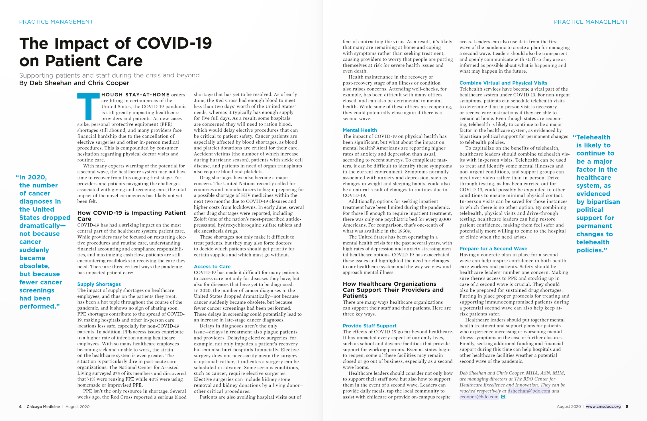The Impact of COVID-19 on Patient Care